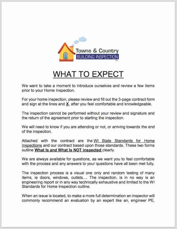 Home Inspection Expectations